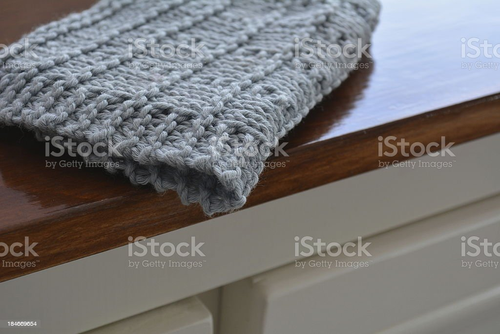 Close up of a face cloth or cleaning rag royalty-free stock photo