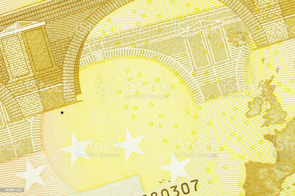 Close up of a Fifty Euro Note (XXXL) stock photo
