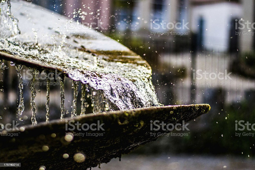 Close up of a fountain stock photo