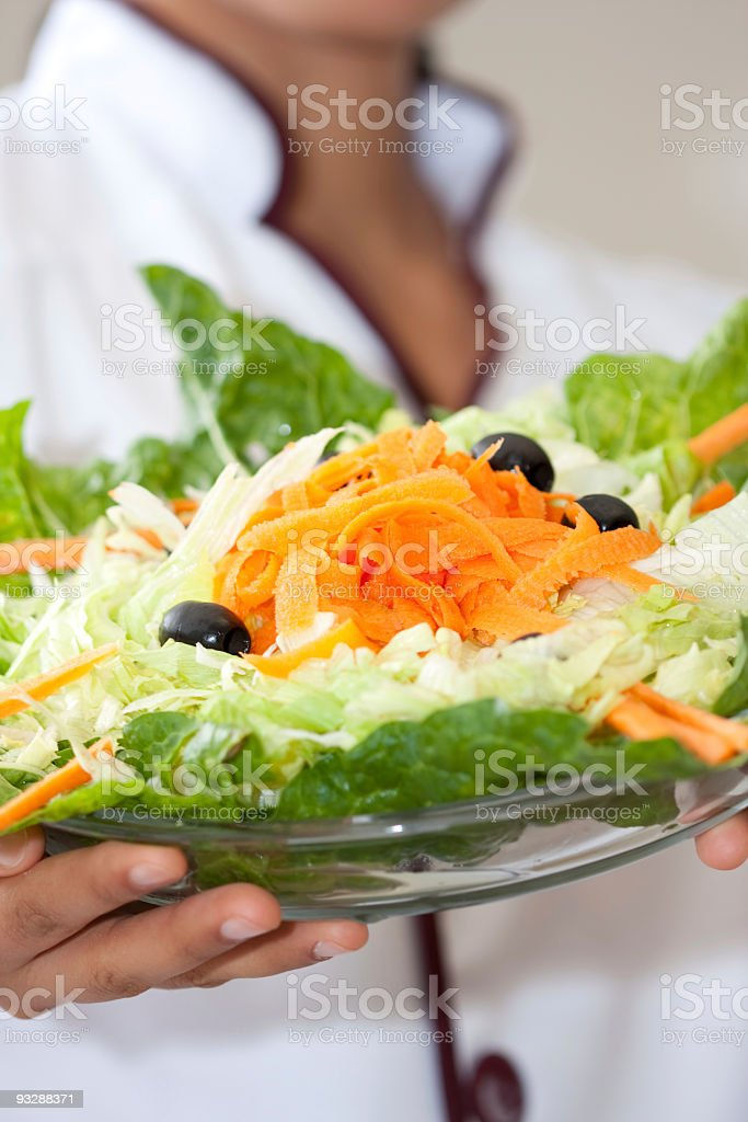 close up of a fresh salad royalty-free stock photo