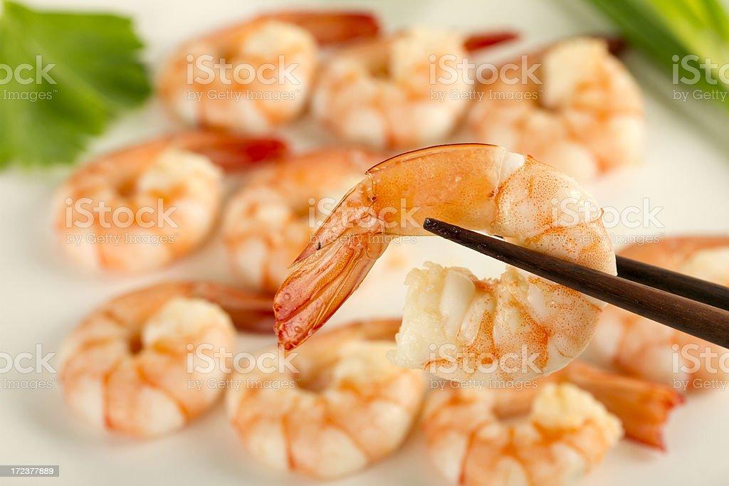 Close up of a fresh shrimp royalty-free stock photo