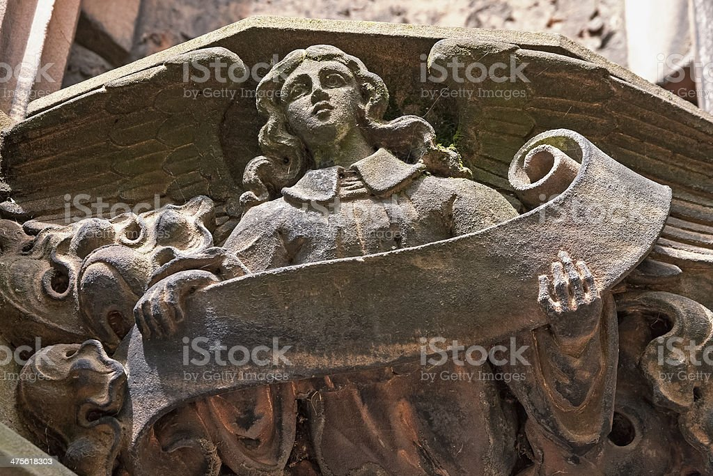 Close up of a gargoyle on Chester Cathedral stock photo