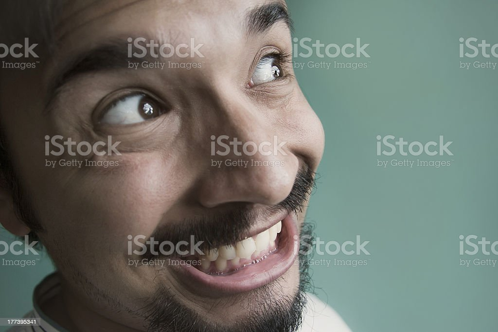 Close up of a happy young man. royalty-free stock photo
