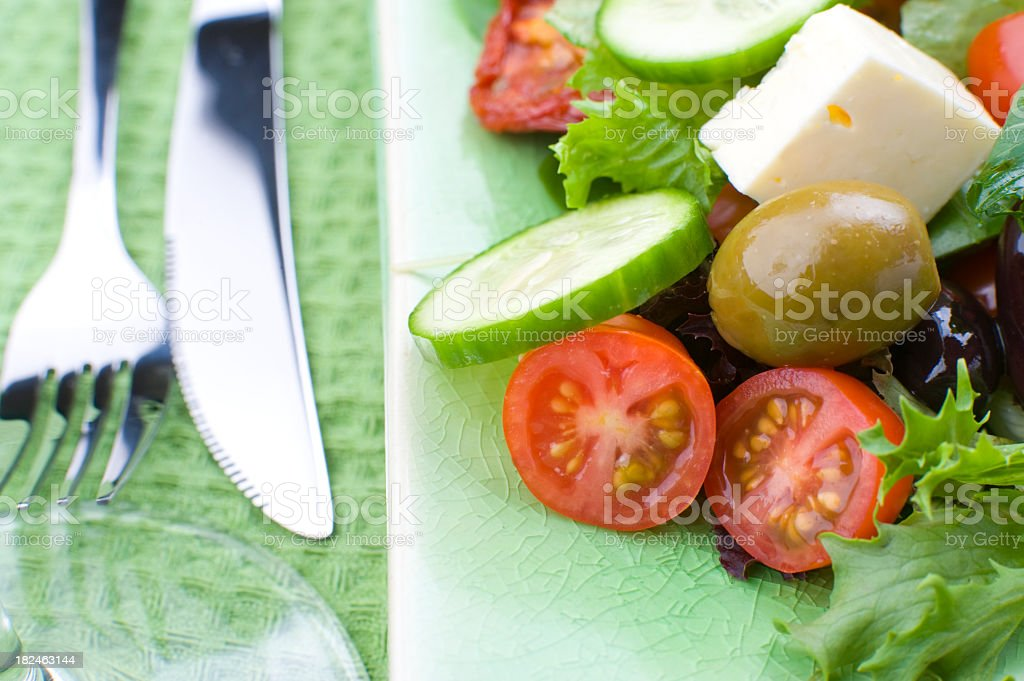 Close up of a healthy salad stock photo