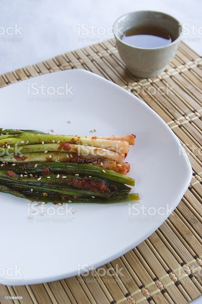 Close up of a Korean side dish. royalty-free stock photo