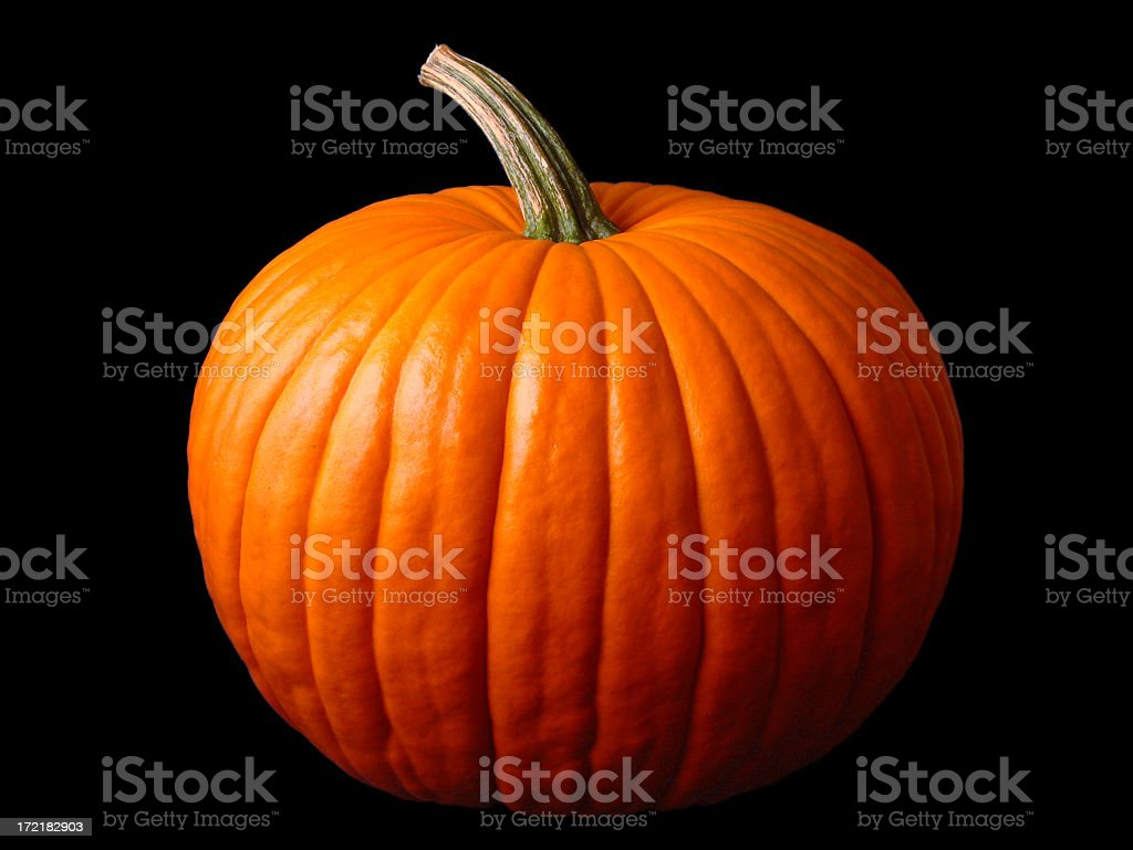 Close up of a large Halloween pumpkin stock photo