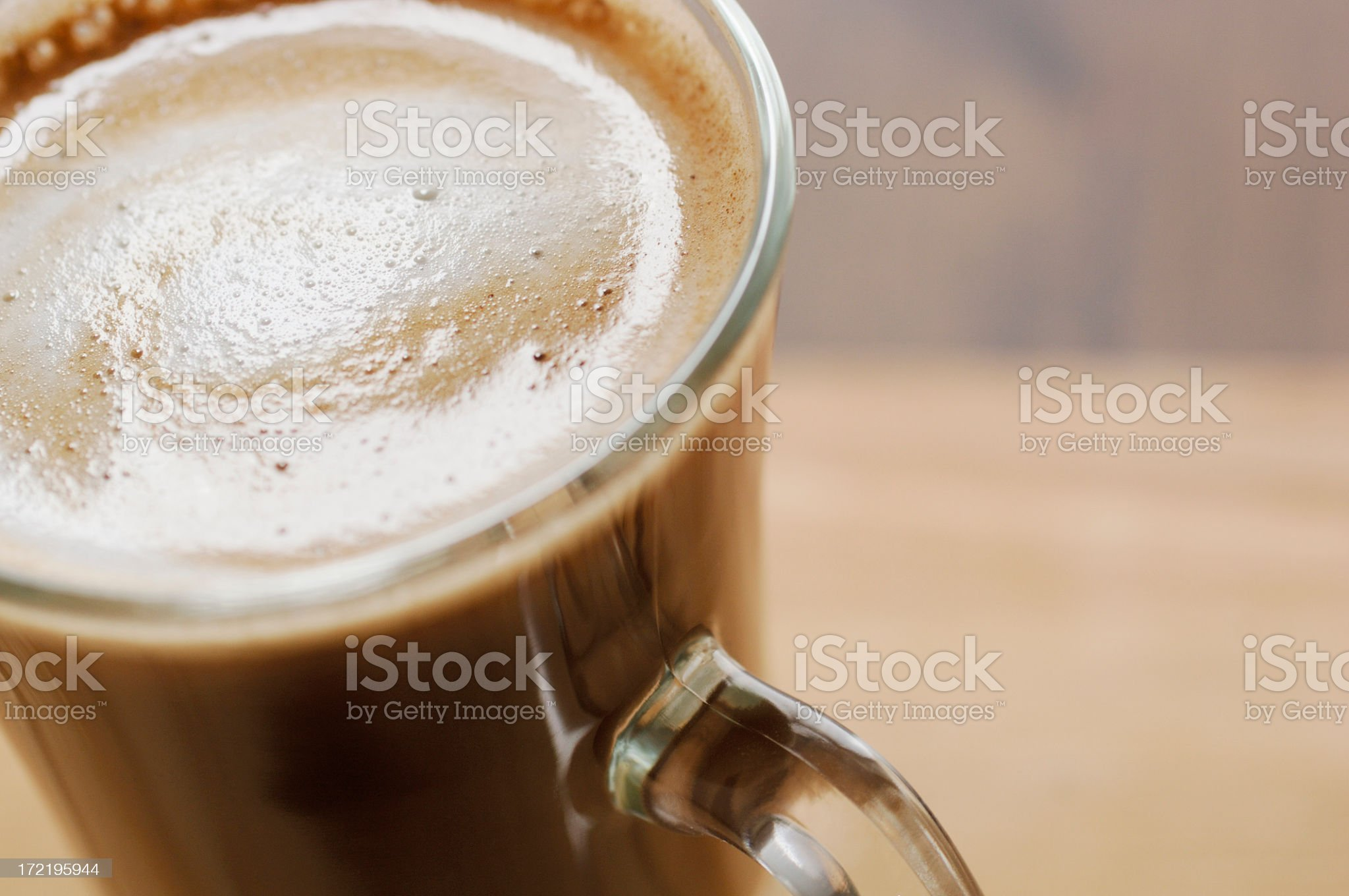 Close up of a latte coffee royalty-free stock photo