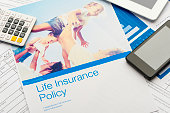 Close up of a Life insurance policy