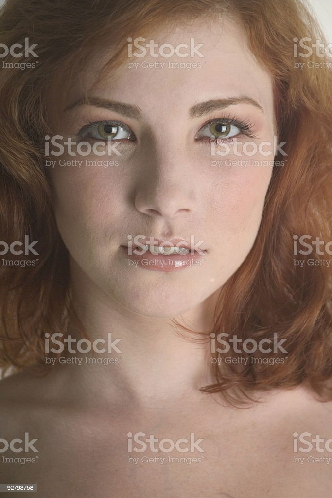 Close up of a lovely redhead royalty-free stock photo