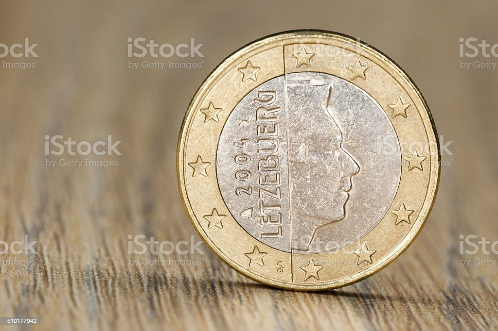 Close up of a Luxembourgish euro coin stock photo