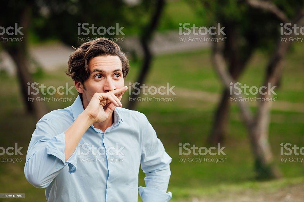 Close up of a man outdoor stock photo