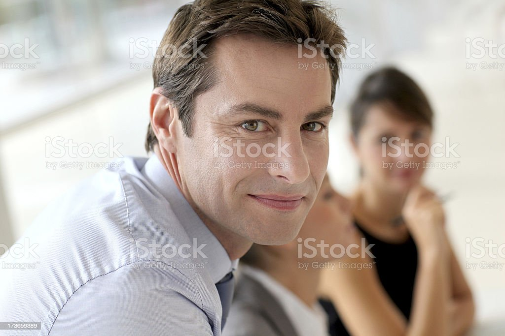 Close up of a manager royalty-free stock photo