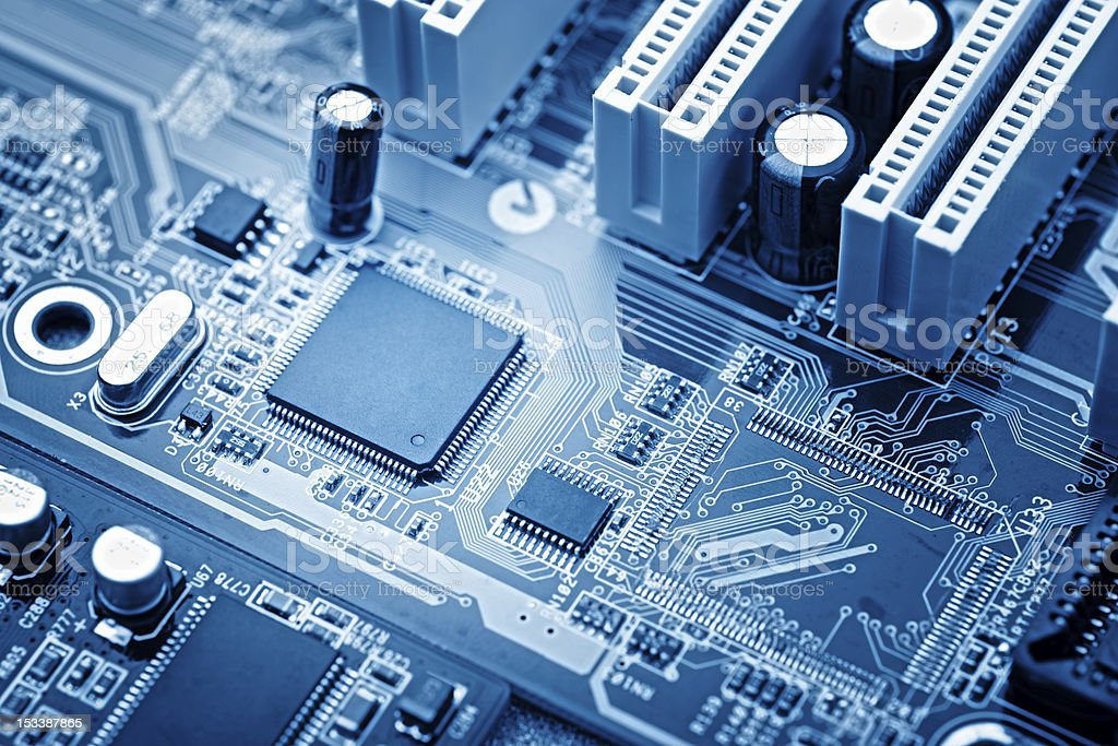 Close up of a microchip stock photo