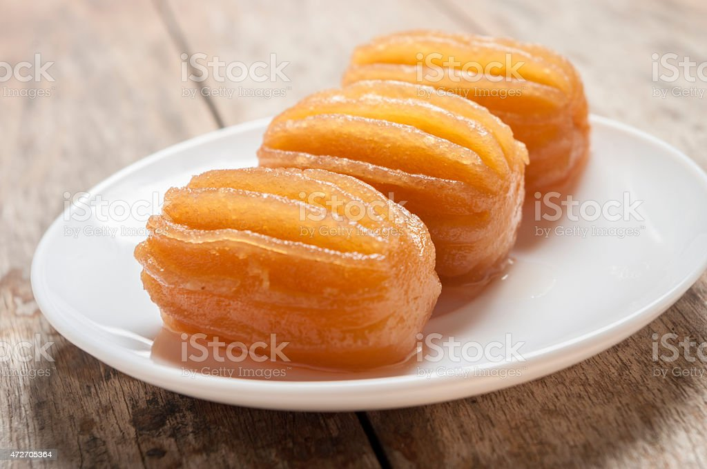 Close up of a middle eastern sweet stock photo