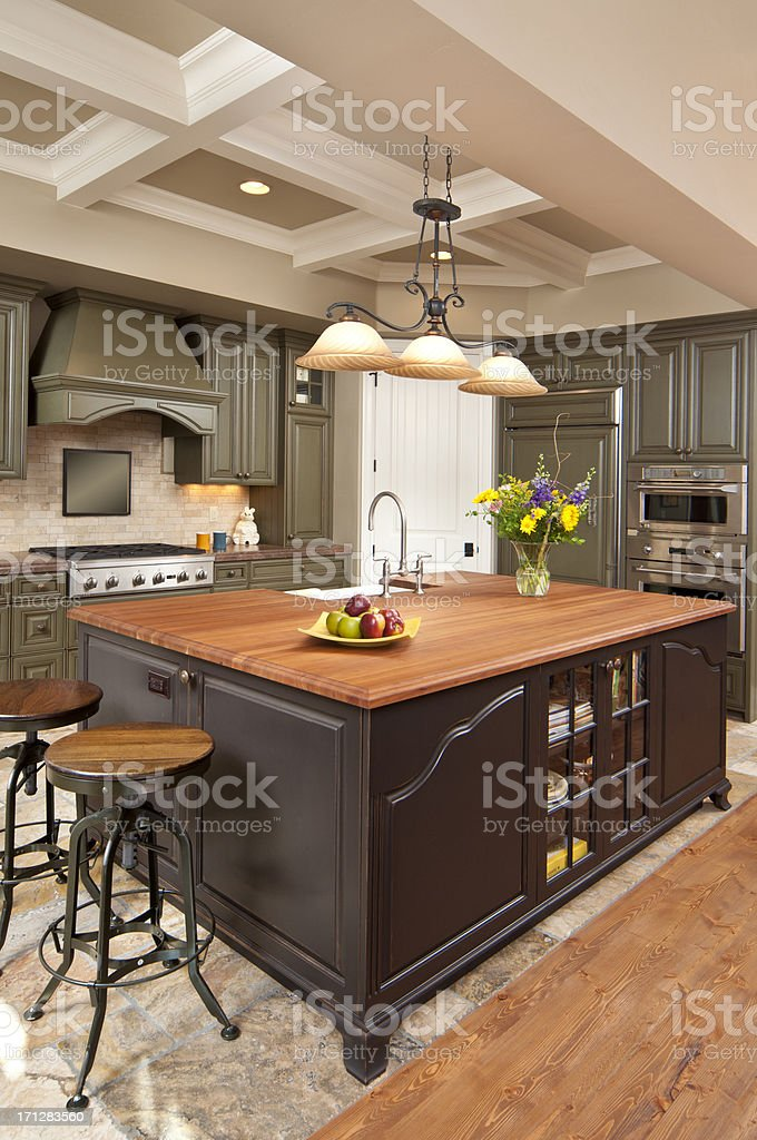 Close up of a modern kitchen interior stock photo