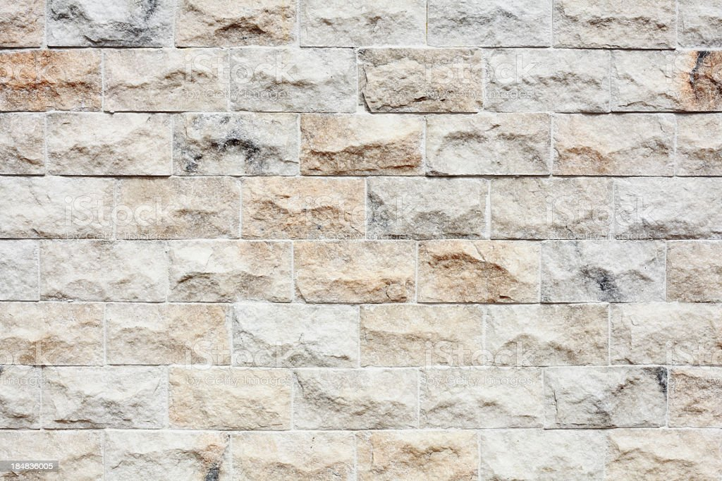 Close up of a newly constructed brick wall royalty-free stock photo