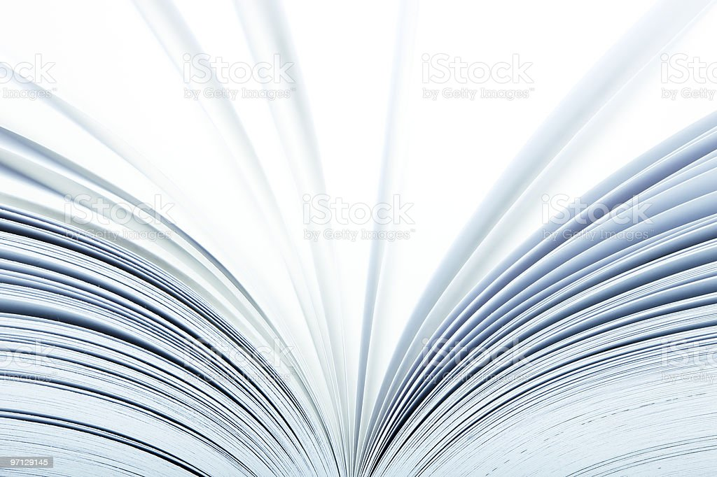Close up of a open book stock photo