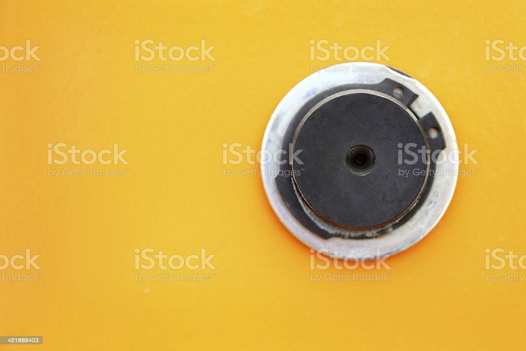 close up of a petrol cap cover on new vehicle royalty-free stock photo