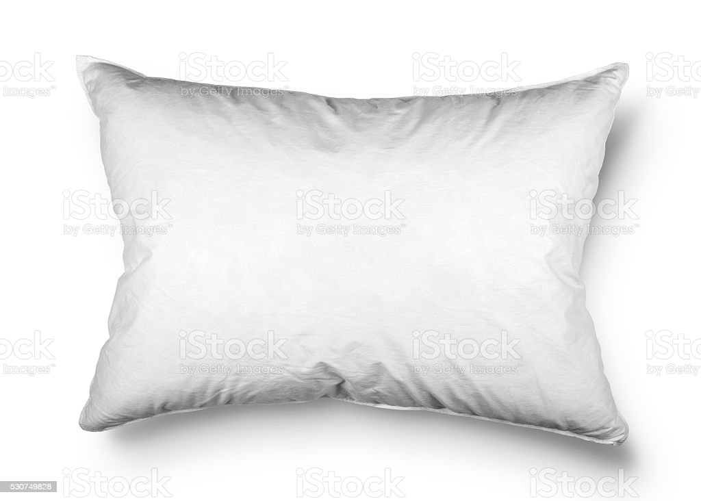 close up of a pillow on white background stock photo