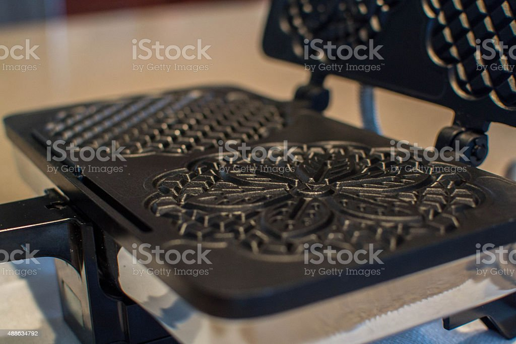 Close up of a Pizzelle Maker stock photo