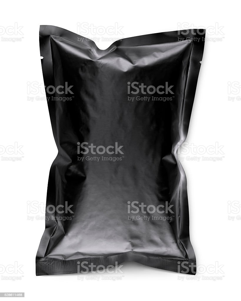 close up of a plastic bag stock photo