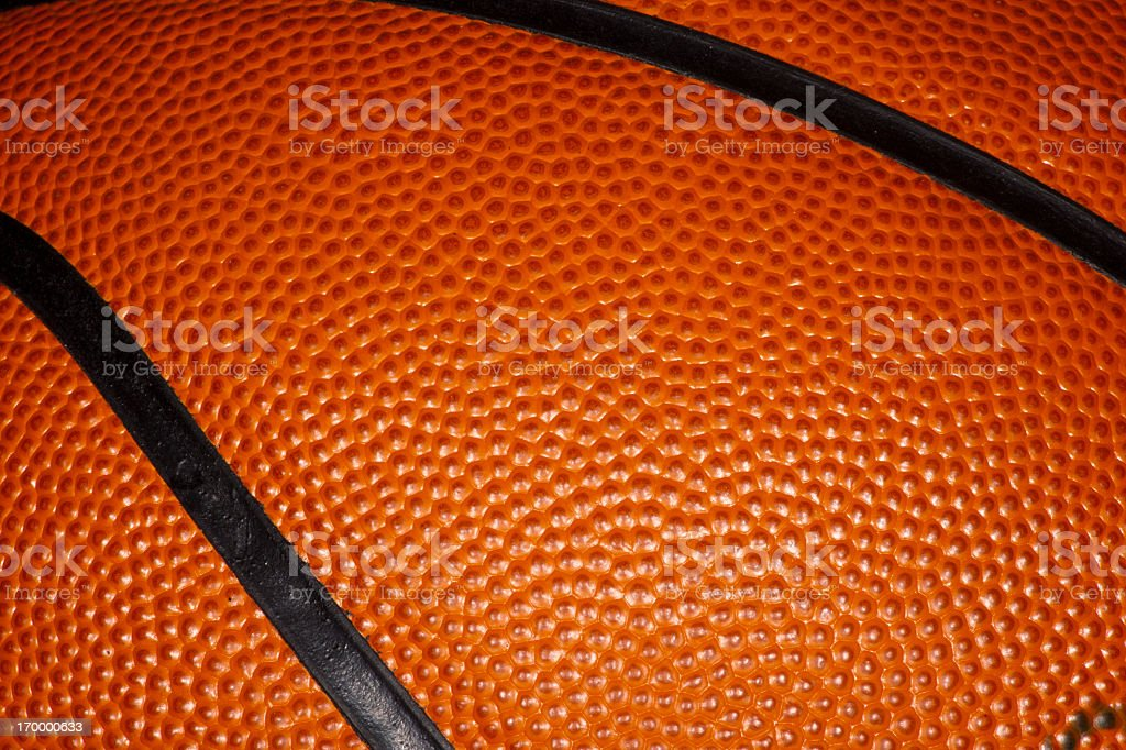 Close up of a Professional Leather Basketball royalty-free stock photo