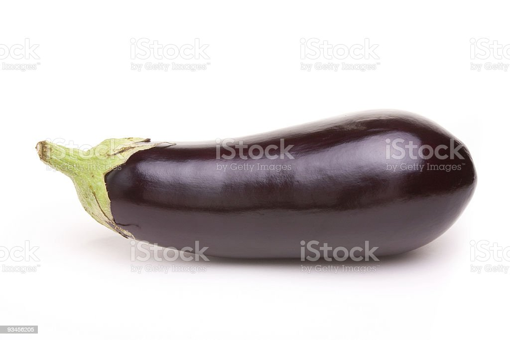 A close up of a purple aubergine royalty-free stock photo