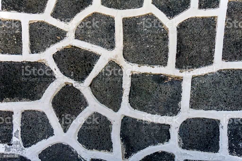 Close Up Of A Random Stone Wall stock photo