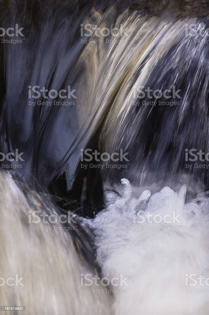 Close up of a rapid turbulent river stock photo
