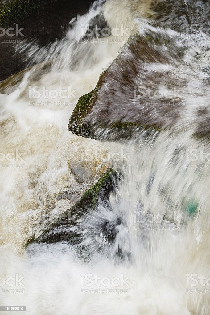 Close up of a rapid turbulent river royalty-free stock photo