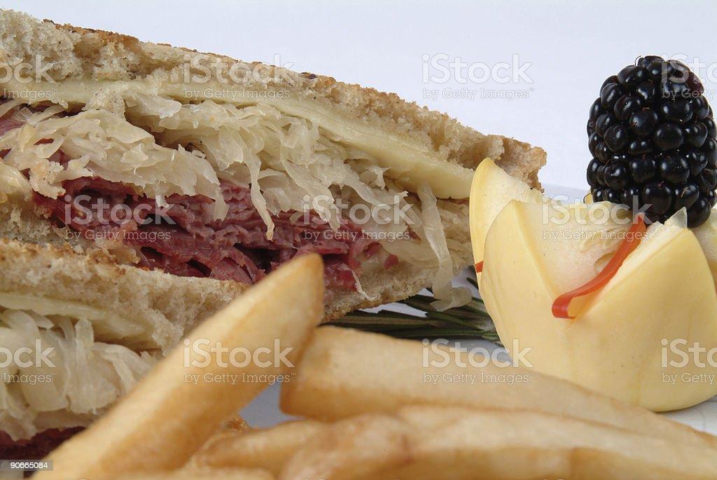 Close up of a Reuben Sandwich stock photo