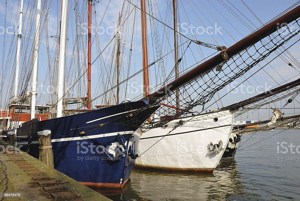 Close up of a sailboats royalty-free stock photo
