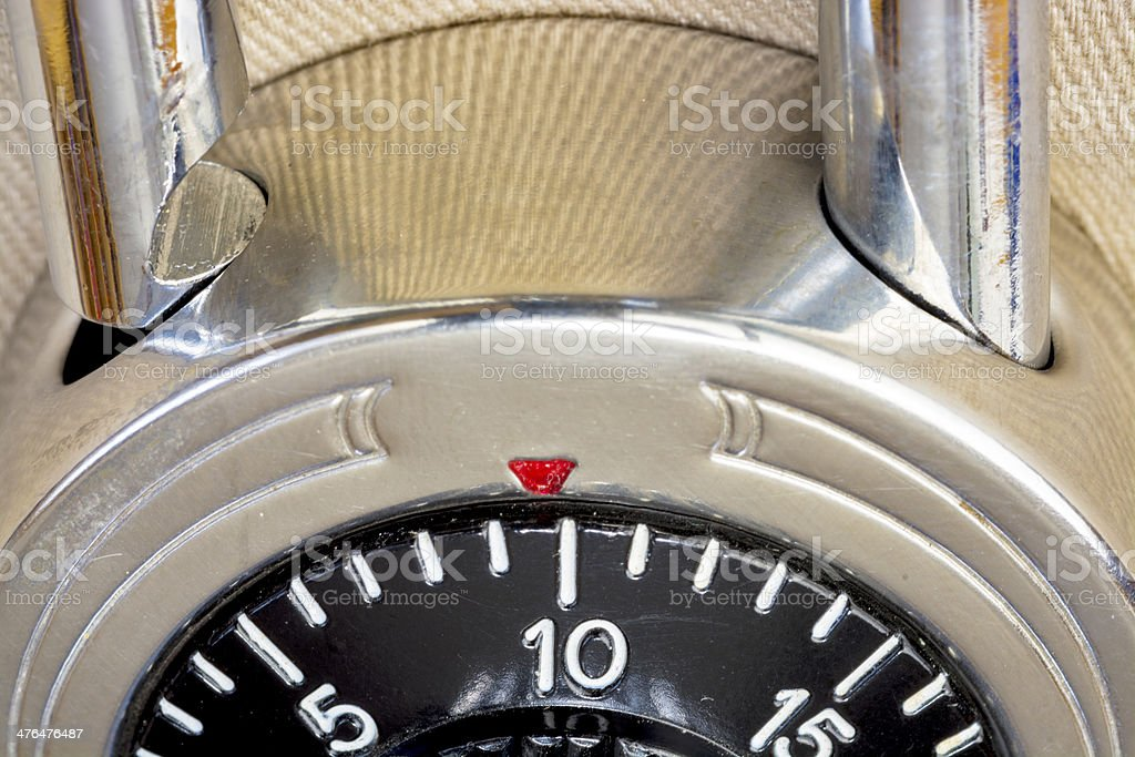 Close up of a school combination lock royalty-free stock photo