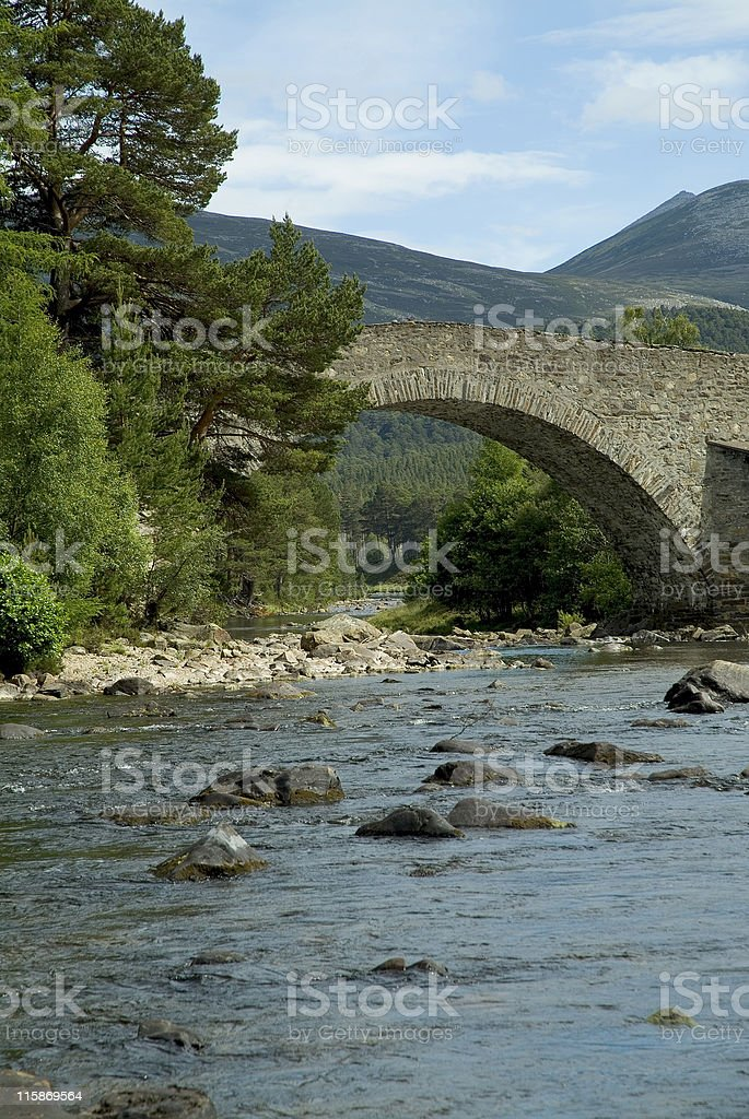 Close up of a scottish highland bridge royalty-free stock photo