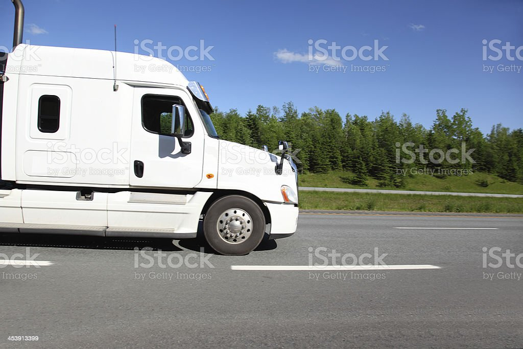 Close up of a semi-truck royalty-free stock photo