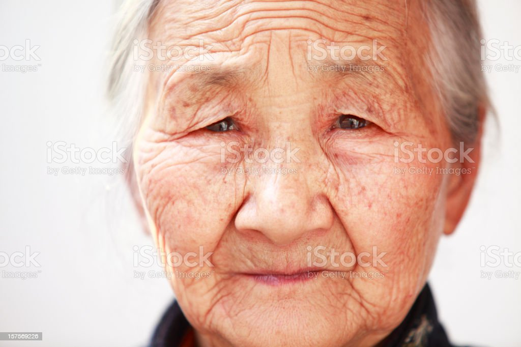 close up of a senior asian woman royalty-free stock photo