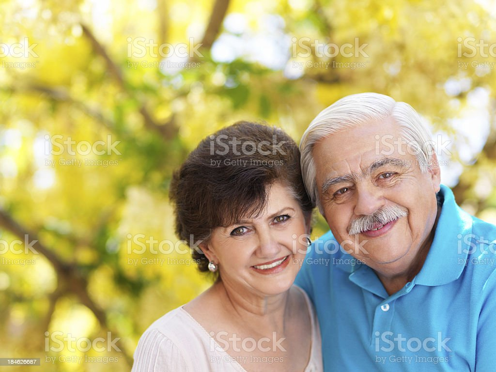 Close up of a senior couple royalty-free stock photo