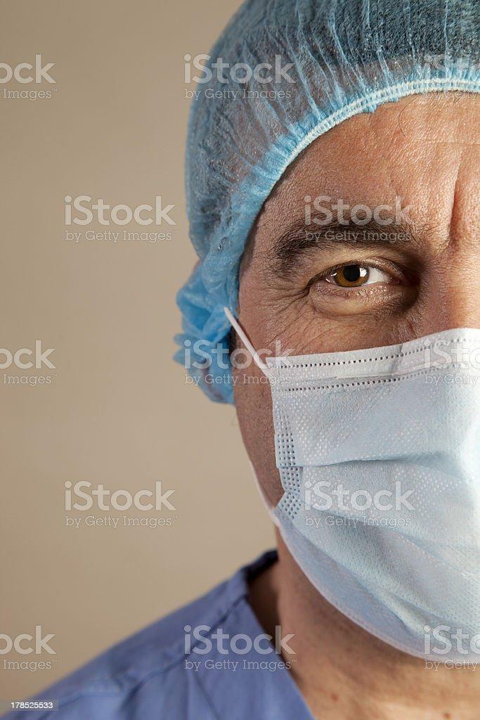 Close up of a senior surgeon royalty-free stock photo