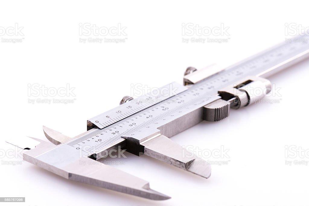 Close up of a set of vernier calipers stock photo