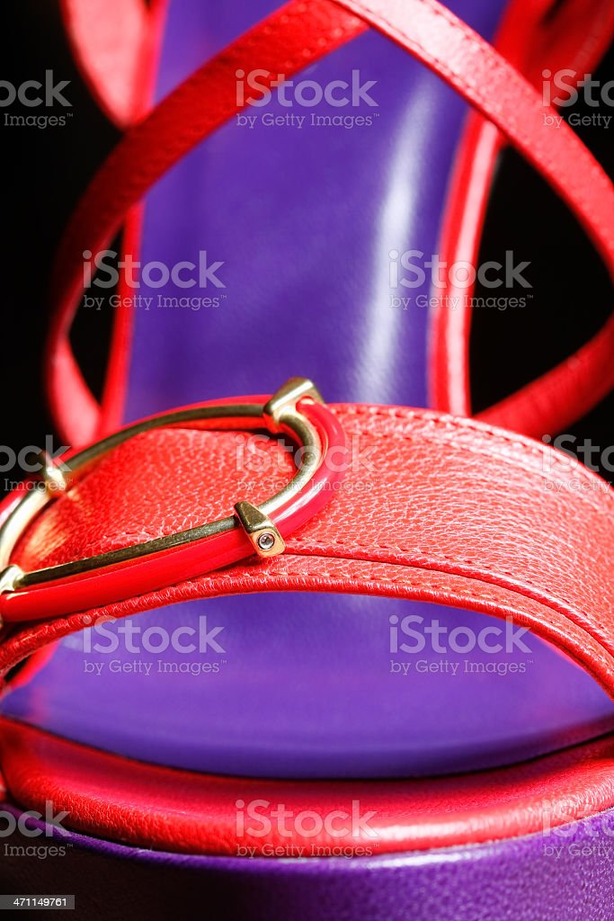 Close up of a shoe. royalty-free stock photo