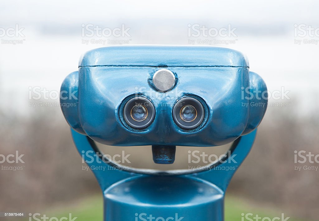 Close up of a sightseeing binoculars stock photo
