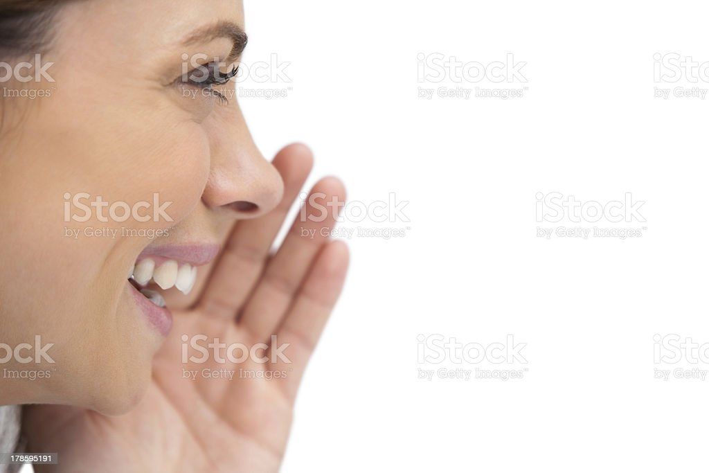 Close up of a smiling woman stock photo