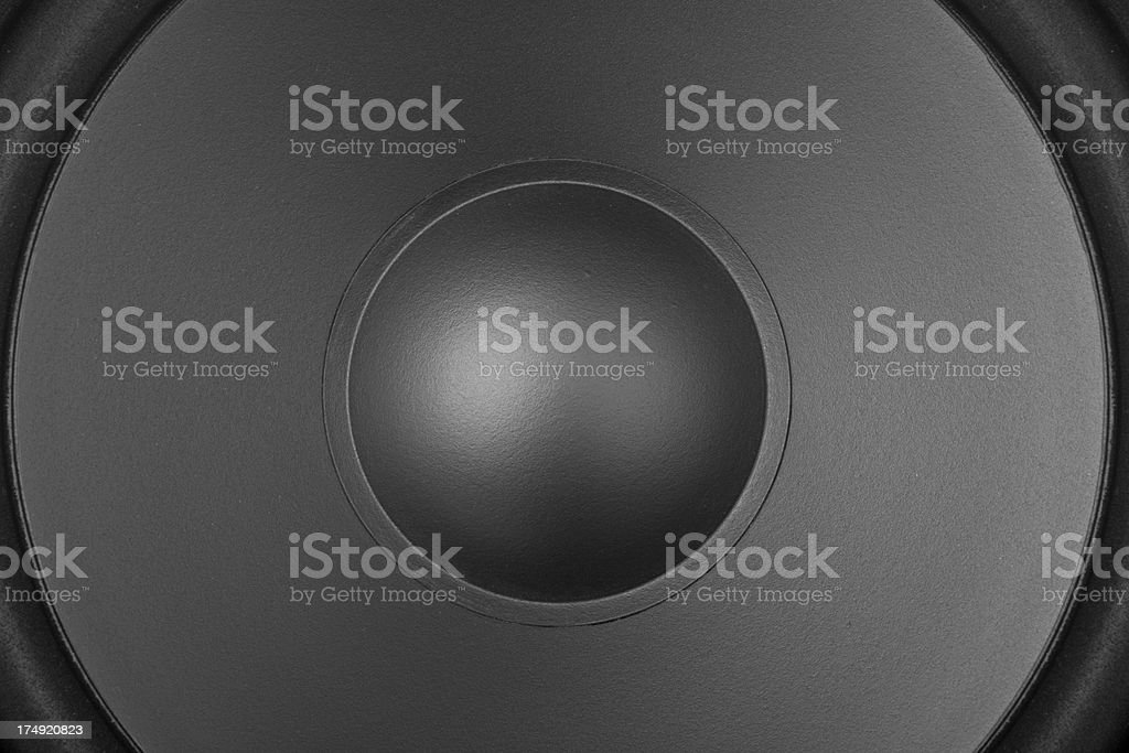 Close up of a speaker royalty-free stock photo