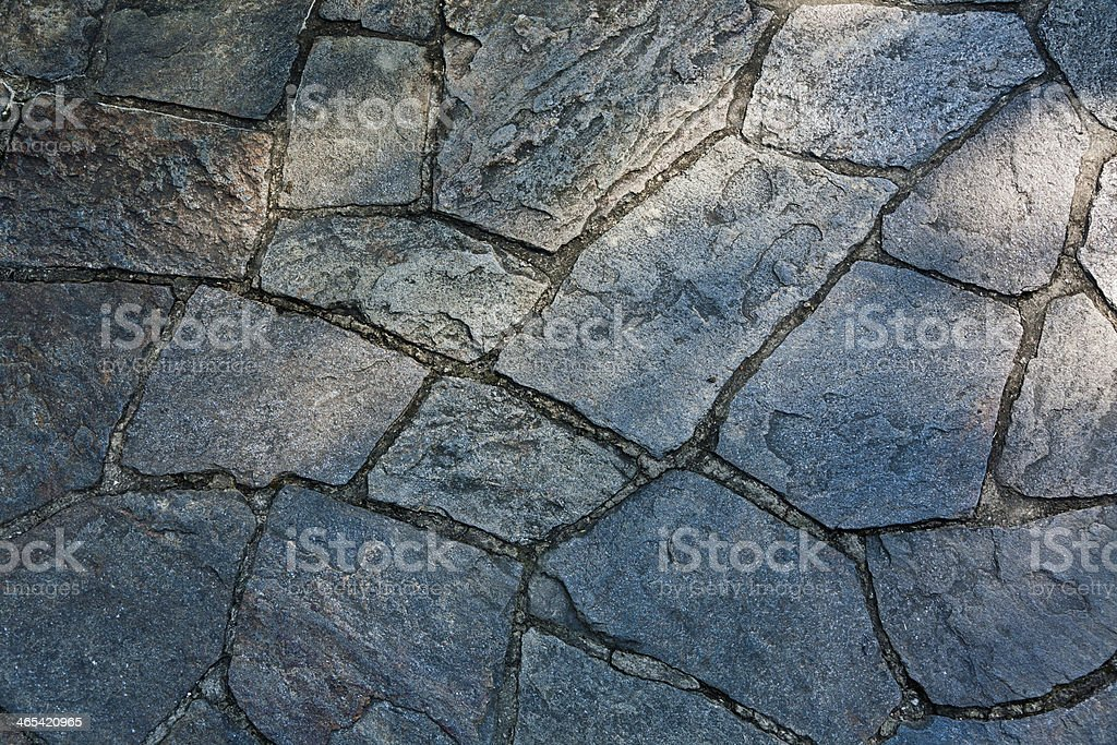 Close up of a Stone Walkway stock photo