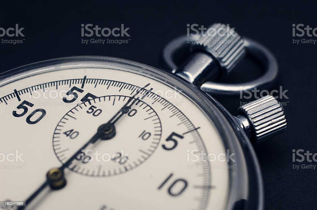 Close Up of a Stopwatch Against Neutral Background royalty-free stock photo