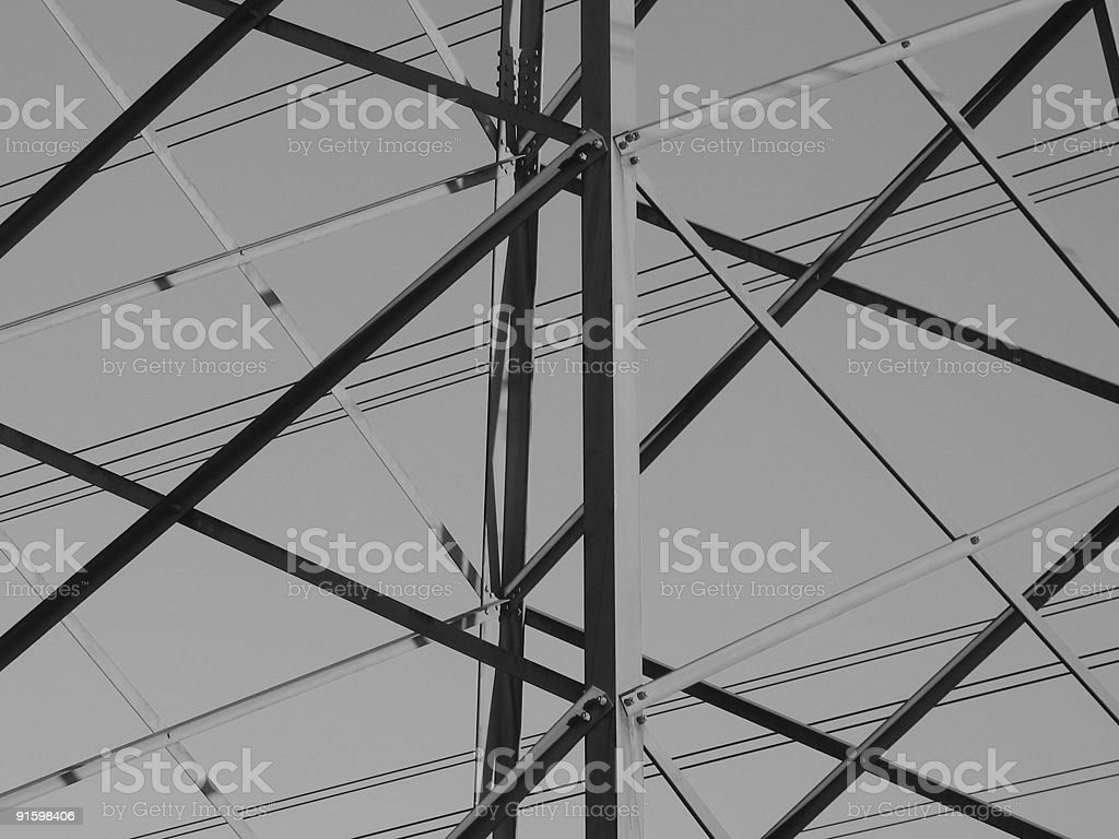 Close up of a telephone tower royalty-free stock photo