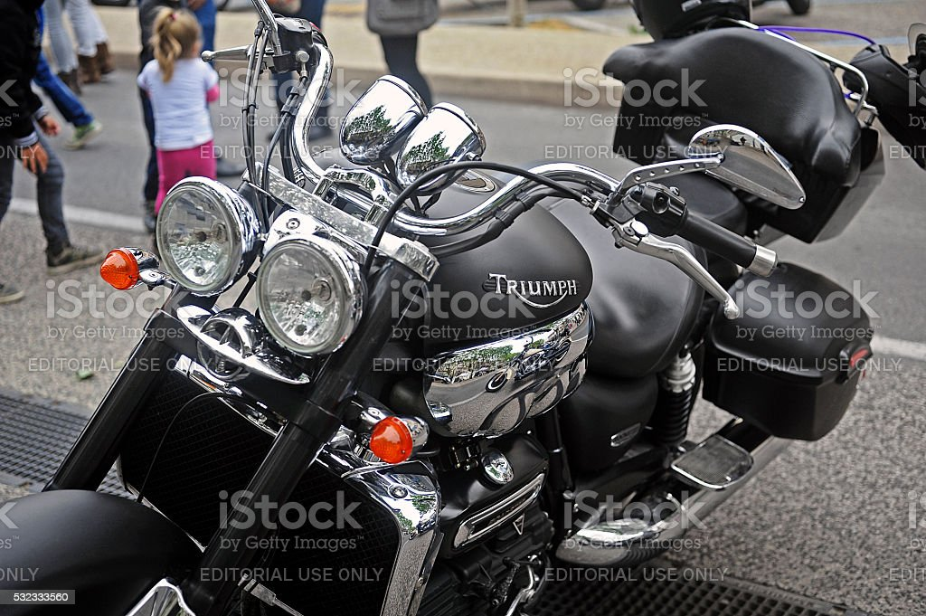 Close up of a triumph stock photo