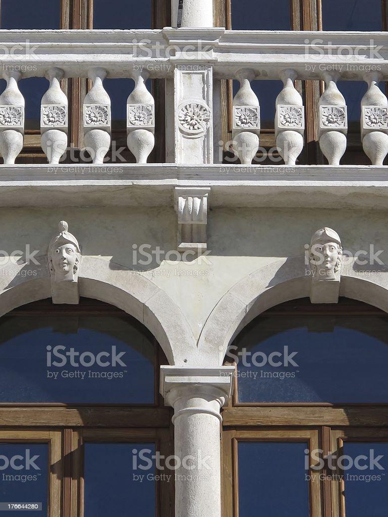 Close up of a unique Renaissance facade royalty-free stock photo