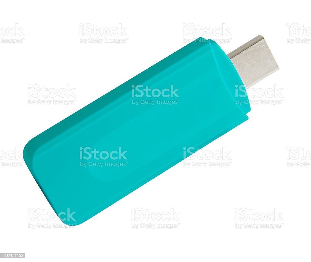 Close up of a USB flash memory stock photo