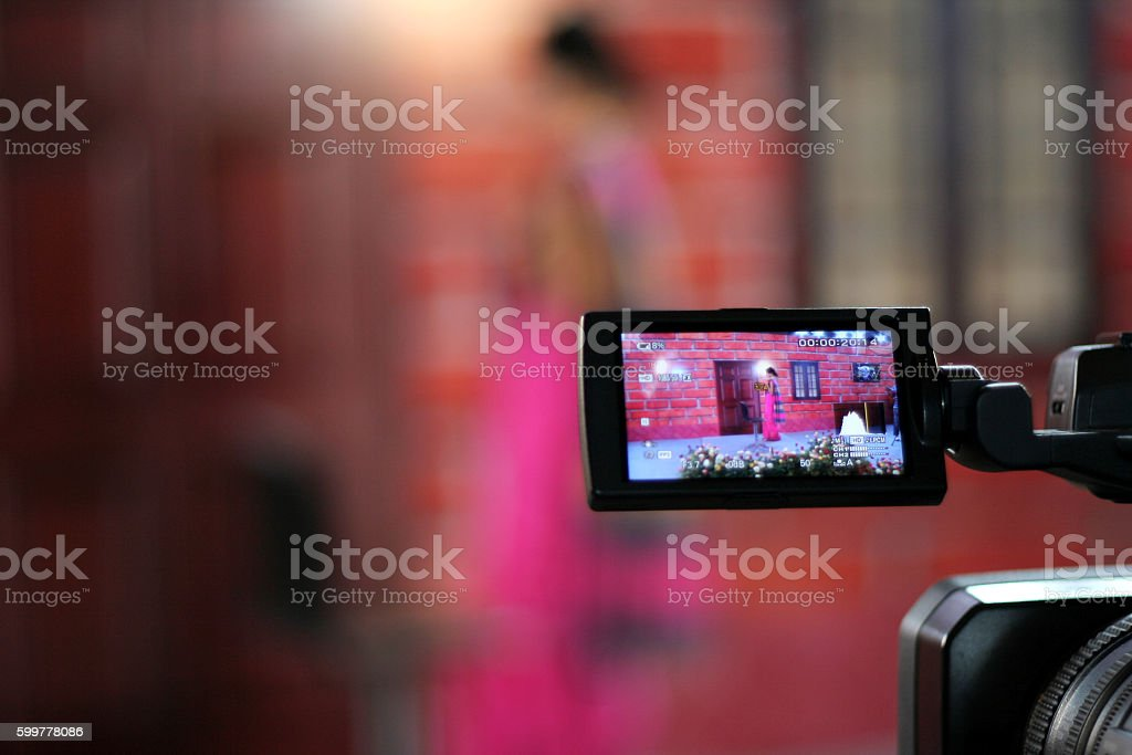 Close up of a Video camera display stock photo